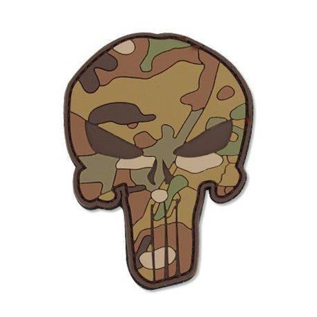 3D PVC morale patch samurai green//brown