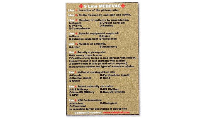 image relating to 9 Line Medevac Card Printable named Fight-Identity - Sticker - 9 Line MEDEVAC - Coyote Brown