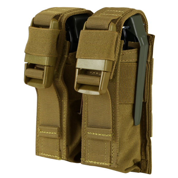 OD GREEN Molle Tactical Double Flash Bang Pouch PALS MAG Bag 2 Grenade Holder