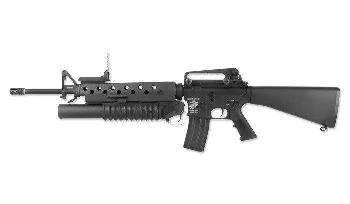 G&P - M16A3 Assault Rifle Replica with M203 Grenade ... M16a3 Assault Rifle