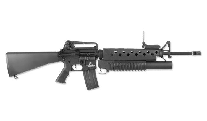 G&P - M16A3 Assault Rifle Replica with M203 Grenade ... M16a3 M203
