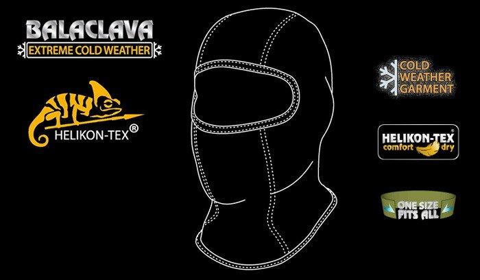 Helikon - Cold Weather Balaclava - Black - CZ-KO2-FG-01  8013ebf892a