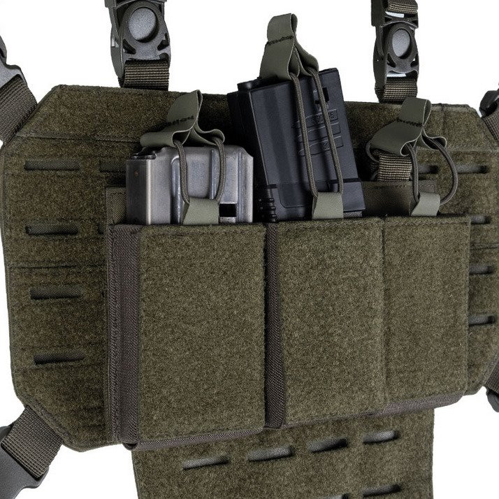 Airsoft Gun Airgun Holder Green MOLLE MODULAR PISTOL HOLSTER WITH MAG POUCH