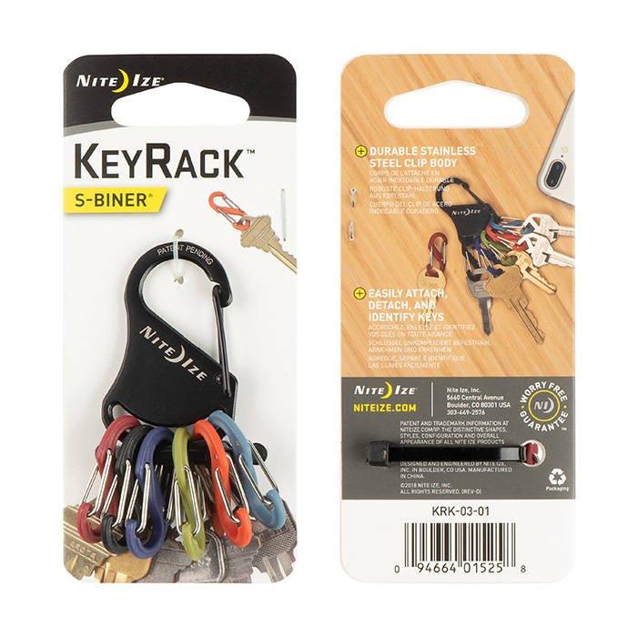 NiteIze KeyRack S-Biner Carabiner Clip Keyring KRK-03-01 NEW