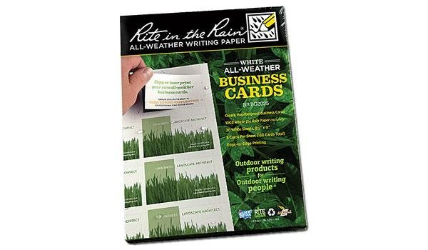 Rite In The Rain Business Card Copier Paper Bc2035 Others