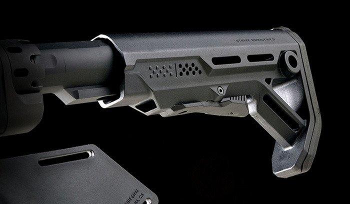 Strike Industries Pit Viper BLACK Billet Aluminum Stock Fixed /& 3 Position Micro