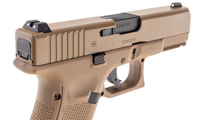 Umarex - Glock 19X Airgun - Metal slide - 4,5 mm - Coyote - 5 8368