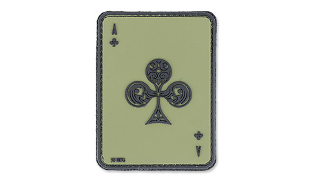 101 Inc. - 3D Patch - Ace Of Clubs - OD Green