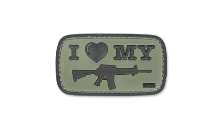 101 Inc. - 3D Patch - I Love My M4 - OD Green