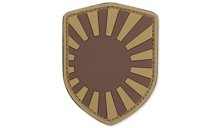 101 Inc. - 3D Patch - Japanese War Shield - Brown