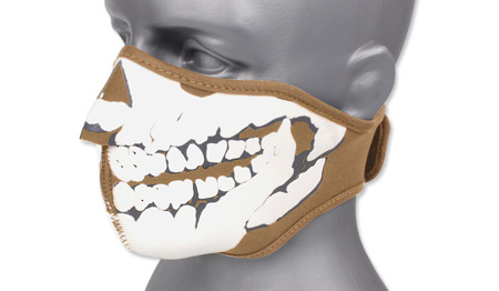 101 Inc. - Neoprene Face Mask 3D Skull - Coyote Brown - 219292-CB
