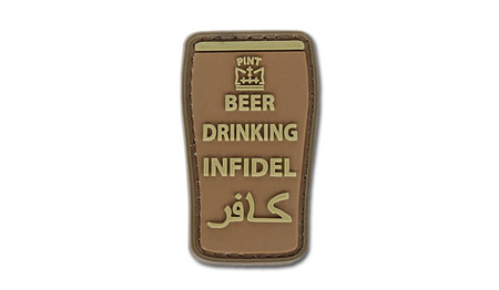4TAC - PVC Patch - Beer Drinking Infidel - Brown
