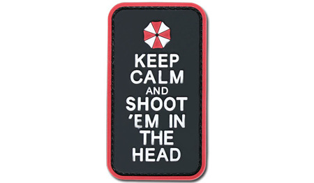 4TAC - PVC Patch - Keep Calm and Shoot'em in the Head