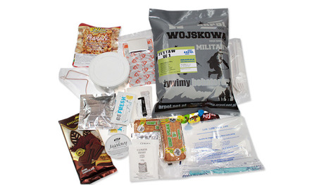 ARPOL - Military Food Ration with Esbit style Heating Kit - W-1