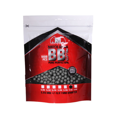 Arma Tech - Match Grade BB Bullets - 0.36g - 1000 rds - Grey