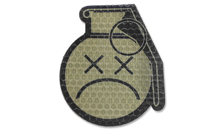 Combat-ID - Patch Sad Frag Grenade - Coyote Tan - Gen I