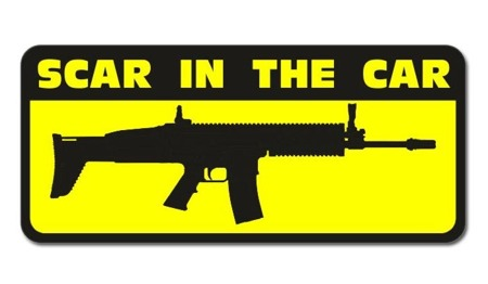 Combat-ID - Sticker - SCAR In The Car - For glass