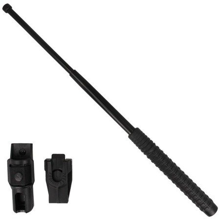 "ESP - Hardened expandable baton - 21"" - Extra grip handle - Black - ExB-21H BLK BH-54"