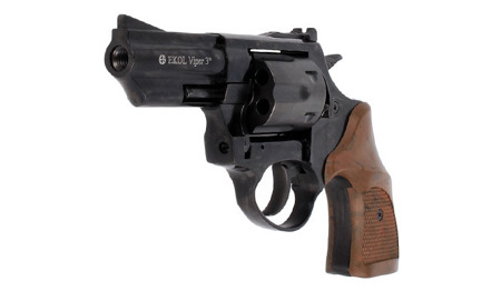 Ekol - Blank Firing Revolver Viper 3'' K-6L Black GEN-2 - 6mm long