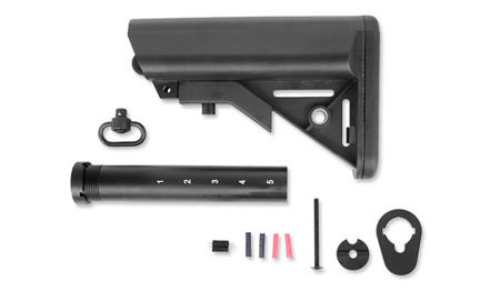 G&P - Multi Purpose Buttstock - M4, M16 - Black - GP897B