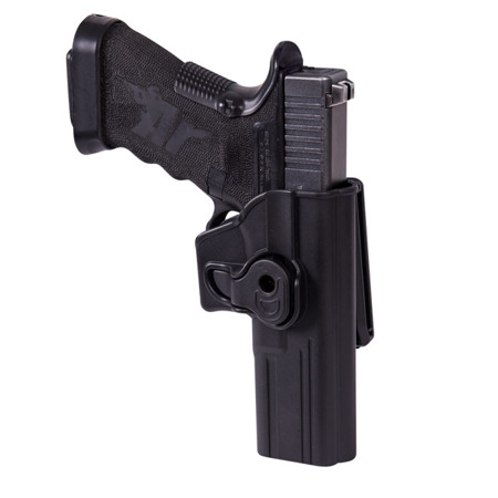 Helikon - Release Button Holster with Belt Clip for Glock 17 - Black - KB-CRG-MP-01