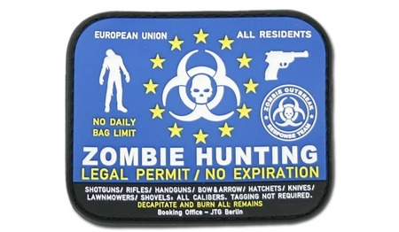 JTG - 3D Patch - Zombie Hunting Permit