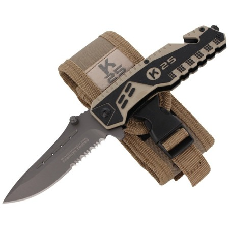 K-25 - Bicolor Coyote Titanium Rescue Folder 87 mm - 19443