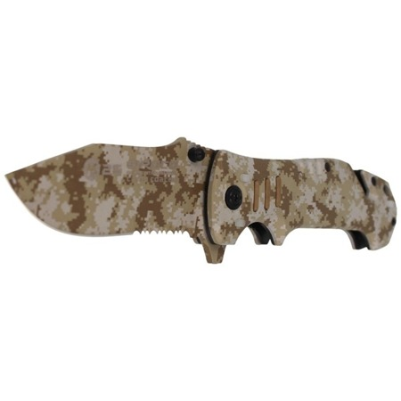 K25 - Siroco Camo Rescue Folder Knife - Visible in the Dark - 19760