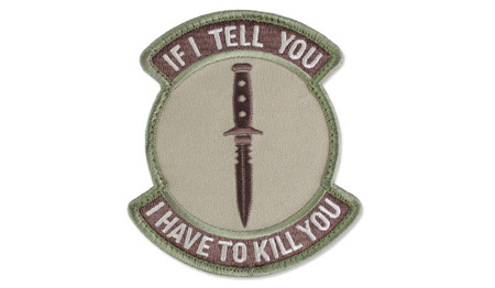MIL-SPEC MONKEY - Morale Patch - If I tell - Arid