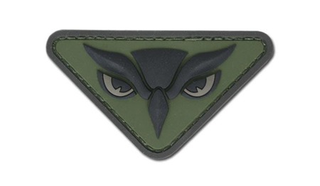 MIL-SPEC MONKEY - Morale Patch - Owl Head  - PVC - Forest
