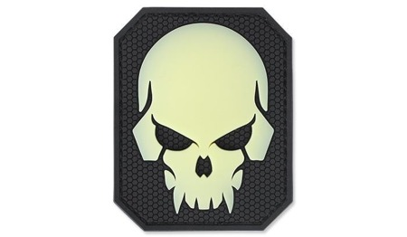MIL-SPEC MONKEY - Morale Patch - Pirateskull Large - PVC - Green Glow