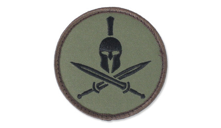 MIL-SPEC MONKEY - Morale Patch - Spartan Helmet - Forest