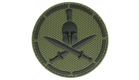 MIL-SPEC MONKEY - Morale Patch - Spartan Helmet  - PVC - Forest