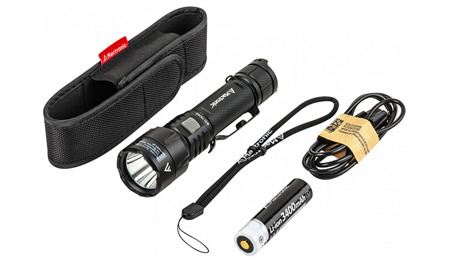 Mactronic - Black Eye Rechargable Flashlight - 1300 lm - THH0044