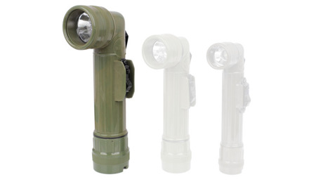 Mil-Tec - Angle Flashlight R20 - OD Green - Halogen - 15142001