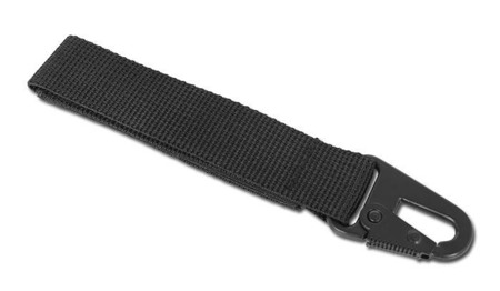 Mil-Tec - Strap with metal carabiner - 120mm - Black - 15916102