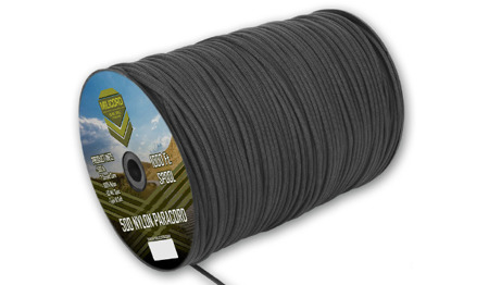 Milicord - Paracord 500-7 - 4 mm - Black - Spool 1000ft