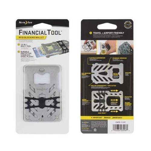 Nite Ize - Financial Tool RFID Blocking Wallet - Stainless - FMTR-11-R7