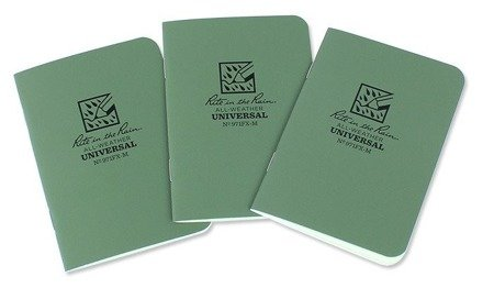 "Rite in the Rain - All-Weather Notebook - 3 1/4 x 4 5/8"" - 3 pcs - 971FX-M - Olive"