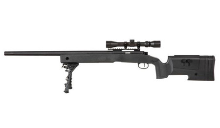 Specna Arms - SA-S02 CORE™ Sniper rifle replica with scope and bipod - Black