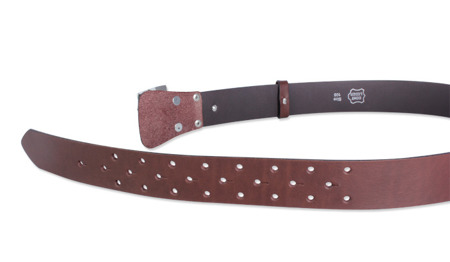 TRK - Leather Military Belt - Brown
