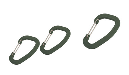 Wildo - Accessory Carabiner Set - 3 pcs - Olive - 89621
