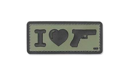 101 Inc. - 3D Patch - I Love My Sidearm - OD Green