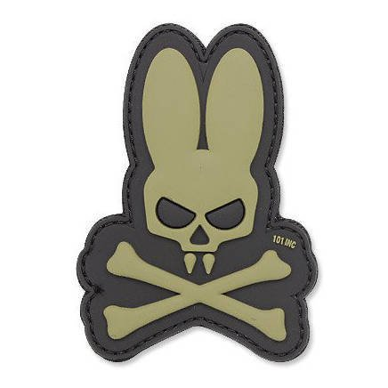 101 Inc. - 3D Patch - Skull Bunny - OD Green