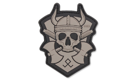101 Inc. - 3D Patch - Viking With Hatchet - Grey