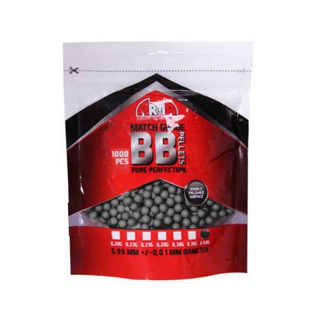 Arma Tech - Match Grade BB Bullets - 0.40g - 1000 rds - Grey