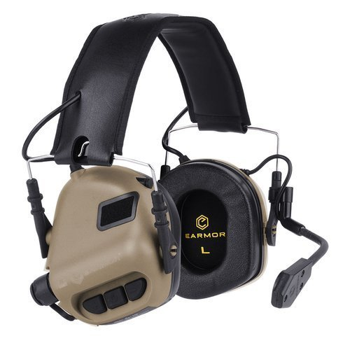 Earmor - M32 Tactical Mod 1 Communication Headset - Coyote Tan