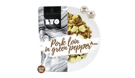 LYO Expedition - PORK LOIN IN GREEN PEPPER 500g