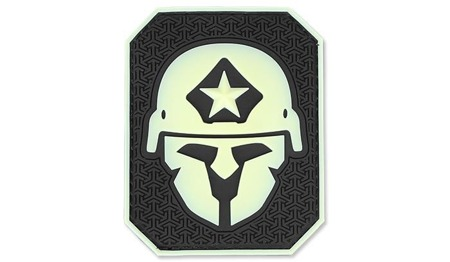 MIL-SPEC MONKEY - Morale Patch - Modern Spartan Large - PVC - Green Glow