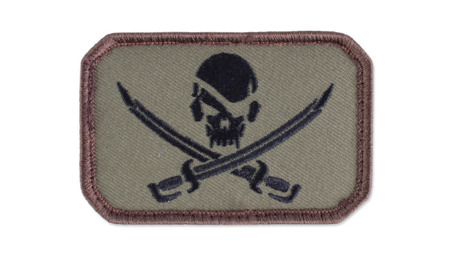 MIL-SPEC MONKEY - Morale Patch - Pirate Skull Flag - Forest